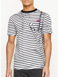 Mcq By Alexander Mcqueen Striped T Shirt Black White Black White