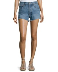 Derek Lam Drew High Rise Classic Vintage Jean Cutoff Shorts Light Blue
