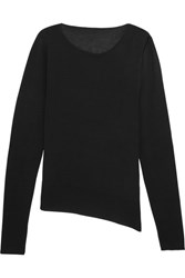 Maison Martin Margiela Mm6 Cutout Stretch Knit Top Black