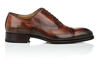 Harris Cap Toe Burnished Leather Balmorals Red Brown