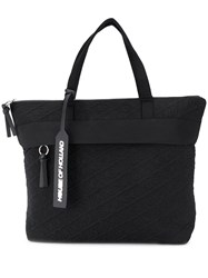 House Of Holland Embroidered Logo Tote Black
