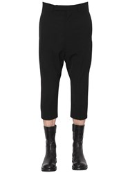 Rick Owens Wool Blend Drill Cropped Pants