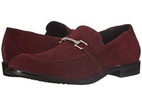 Stacy Adams Gulliver Oxblood Suede Men's Lace Up Moc Toe Shoes Burgundy