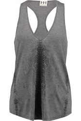 Haute Hippie Printed Modal Jersey Tank Anthracite