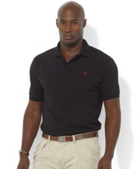 Polo Ralph Lauren Big And Tall Polo Shirt Classic Fit Mesh Polo Black