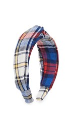 Dannijo Darcy Headband Blue Plaid