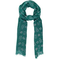 Seasalt Autumn Woodcut Printed Scarf Jade