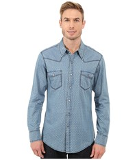Rock And Roll Cowboy Long Sleeve Snap B2s7284 Blue Men's Long Sleeve Button Up