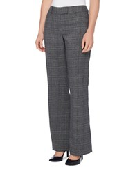 Tahari By Arthur S. Levine Plaid Flared Cuff Pants Grey