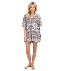 Bcbgeneration Caftan Romper Sea Coral Combo Women's Jumpsuit And Rompers One Piece Gray