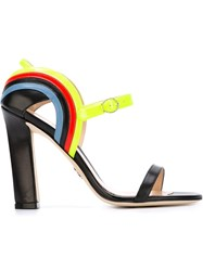 Paula Cademartori Chunky Heel Sandals Black