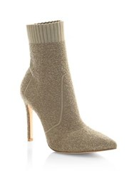 Gianvito Rossi Textured Point Toe Booties Bisque