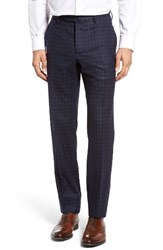 Incotex Men's Benson Flat Front Plaid Wool And Cashmere Trousers