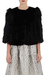 Women's Fur Swing Coat Black