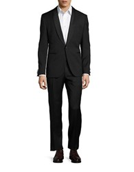 Hugo Satin Trimmed Tuxedo Set Black