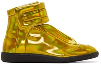 Maison Martin Margiela Gold Iridescent Future High Top Sneakers