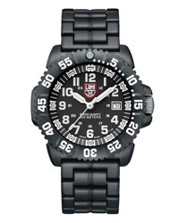 Luminox 44Mm Navy Seal 3050 Series Colormark Watch Black White