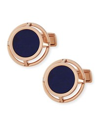 Lapis Wire Frame Cuff Links Gold Men's Alfred Dunhill
