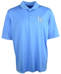 Antigua Men's Tampa Bay Rays Extra Lite Polo Lightblue
