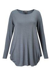 James Lakeland Drape Jersey Top Charcoal