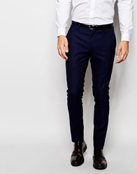 Selected Homme Two Tone Tuxedo Trouser In Skinny Fit Blueblack