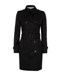 Aquascutum London Franca Double Breasted Raincoat Black
