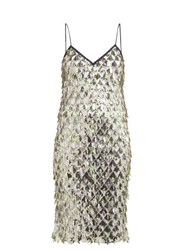 N 21 No. Jersey Lined Sequin Dress Silver