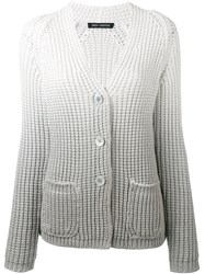 Iris Von Arnim Ombre Cardigan Women Cotton Nylon L White