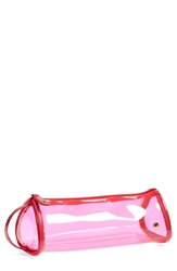 Stephanie Johnson 'Miami Pink' Side Handle Tube Cosmetics Case