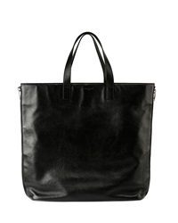 Saint Laurent Rider Leather Shopping Bag Black