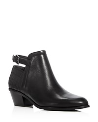 Via Spiga Caryn Low Heel Booties Black