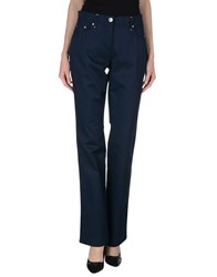 Blu Byblos Trousers Casual Trousers Women Dark Blue