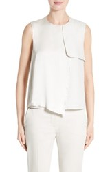 Max Mara Women's Vezzano Satin And Linen Shell Sand