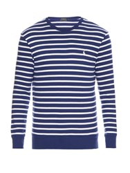 Polo Ralph Lauren Striped Cotton Sweater Blue Multi