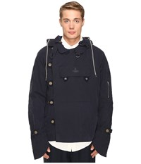 Vivienne Westwood Anglomania Military Parker Jacket Dark Blue Men's Coat