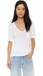 Alexander Wang Classic Cropped Tee White