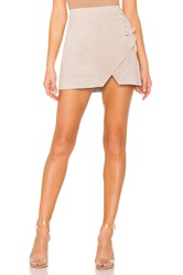 Blank Nyc Suede A Line Skirt Taupe
