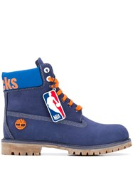 Timberland Lace Up Boots Blue