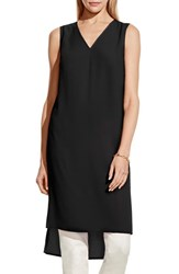 Women's Vince Camuto High Low V Neck Tunic Rich Black