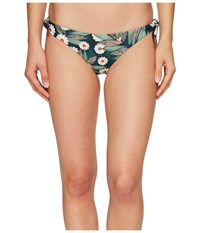 Mara Hoffman Daisy Tie Side Bottom Dark Green Women's Swimwear