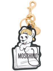 Moschino Pudge Keyring Leather White