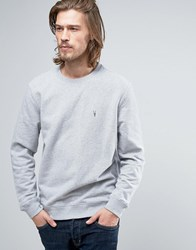 Allsaints Sweatshirt With Branding Grey Marl