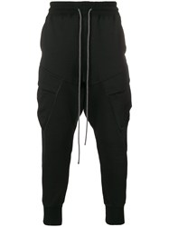The Viridi Anne Paneled Joggers Black