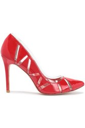 Lucy Choi London Cutout Pvc And Patent Leather Pumps Red