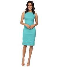 Nicole Miller Tieback Garden Party Dress Aqua Women's Dress Blue