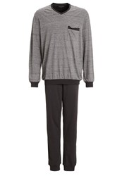 Schiesser Set Pyjamas Grey Dark Grey