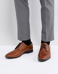 Pier One Leather Oxford Shoes In Tan