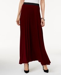 Eci Side Slit Maxi Skirt Wine