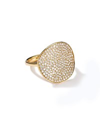 Ippolita Stardust 18K Gold Floral Ring With Diamonds