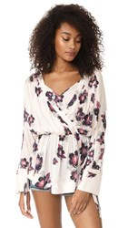 Free People Tuscan Dreams Printed Tunic Ivory